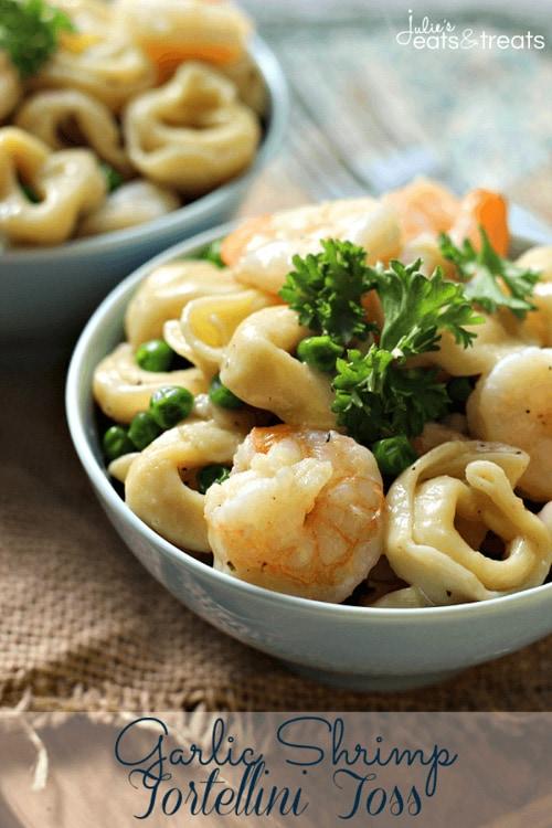 Garlic Shrimp Tortellini Toss | Julie's Eats and Treats