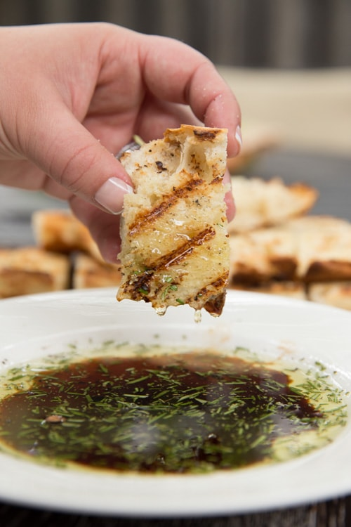 Grilled Bread with Rosemary Dipping Oil | Tastes Lovely