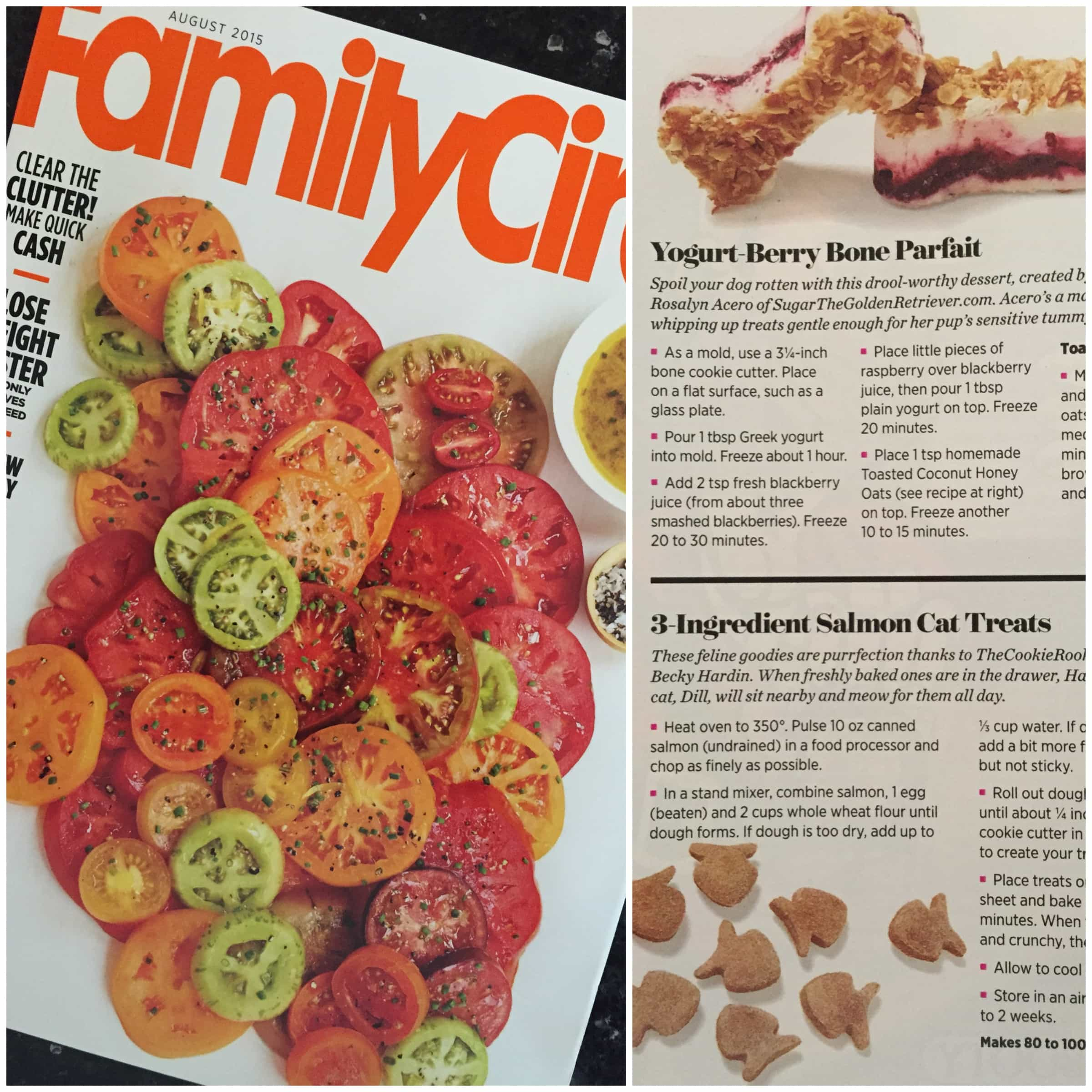 Homemade cat treats recipe 3 ingredient salmon cat treats of family circle magazine along with some other awesome pet treat recipes its such an honor dill was beyond excited to see his name in print forumfinder Image collections