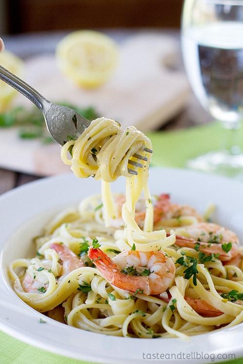 Lemon Pepper Shrimp Linguine | Taste and Tell