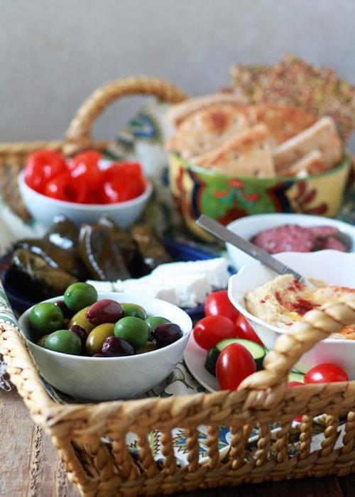Mediterranean Meza Platter | Kitchen Treaty
