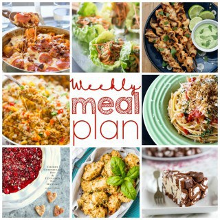 weekly meal plan including desserts!!
