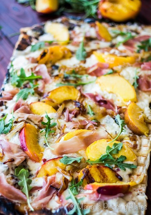 Grilled Peach and Prosciutto Pizza   Mariah's Pleasing Plates