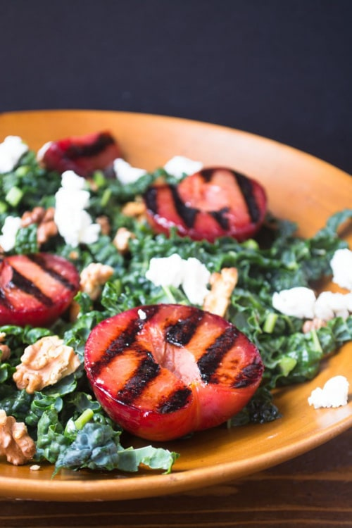 Grilled Plumcot Salad with Toasted Walnut Vinaigrette | The View from Great Island
