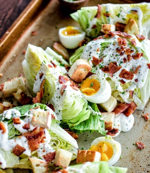 Iceberg Wedge Salads with Soft-Boiled Eggs and Grilled Bacon | Cooking and Beer