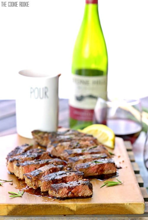 Seared New York Strip Steak with Red Wine Balsamic Reduction | The Cookie Rookie