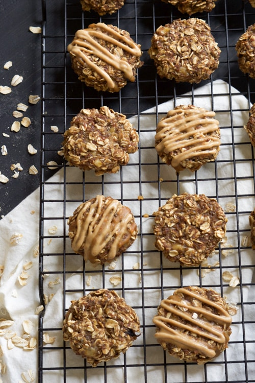Chia Seed Peanut Butter Banana Breakfast Cookies | With Salt and Wit