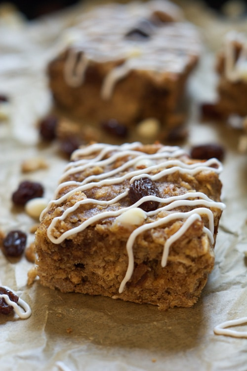 Chewy Cinnamon Roll Granola Bars | With Salt and Wit