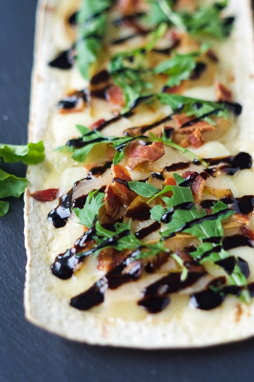 Pear, Brie and Bacon Flatbread | With Salt and Wit