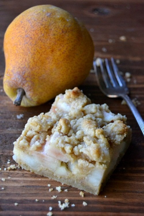 Spiced Pear Crumble Bars | The View From Great Island