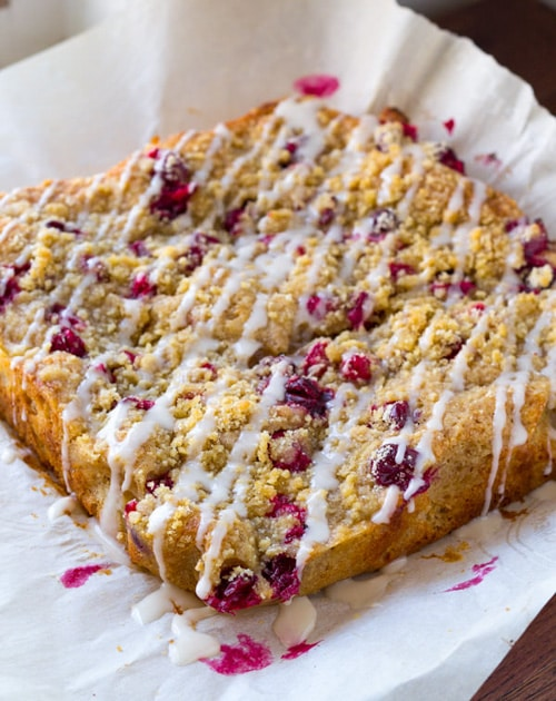 Spiced Pear and Cranberry Coffee Cake | Sweet Peas and Saffron