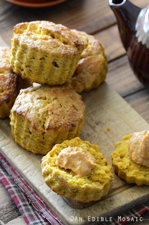 Spiced Pumpkin Scones with Cinnamon Pumpkin Cream | An Edible Mosaic