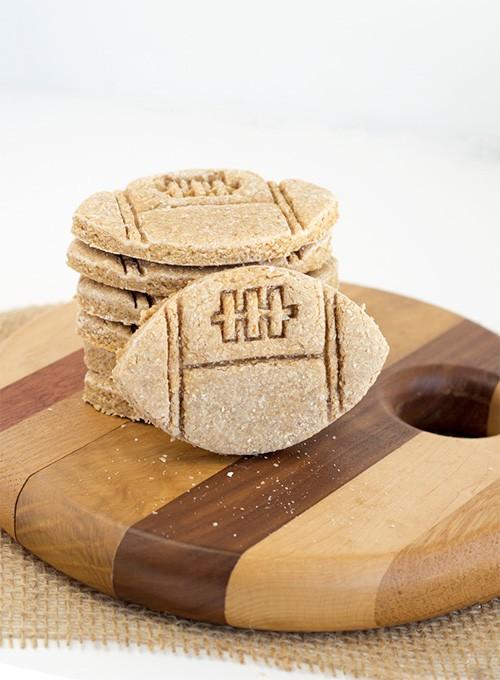 Apple Peanut Butter Doggie Cookies | Cookie Dough and Oven Mitt