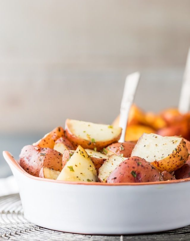 Crock pot potatoes in a bowl