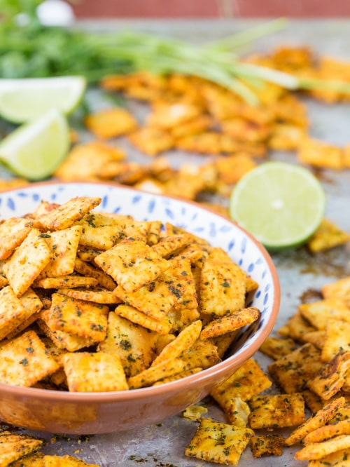 Mexican Spiced Cheese Crackers | The Cookie Rookie