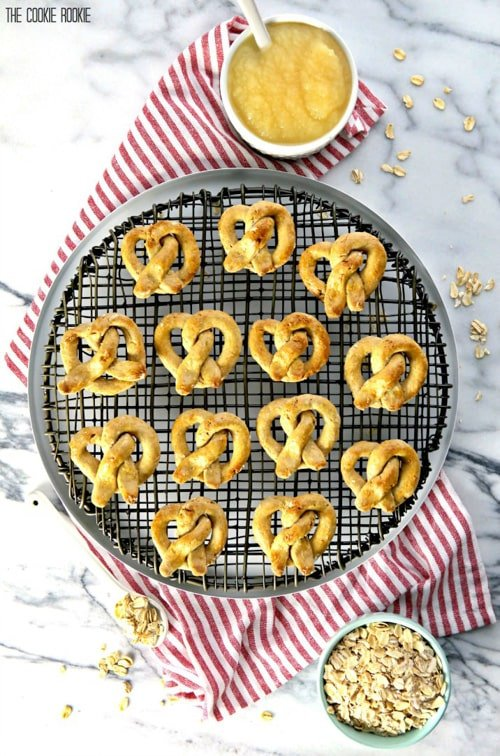 Oat and Apple Pretzel Dog Treats | The Cookie Rookie