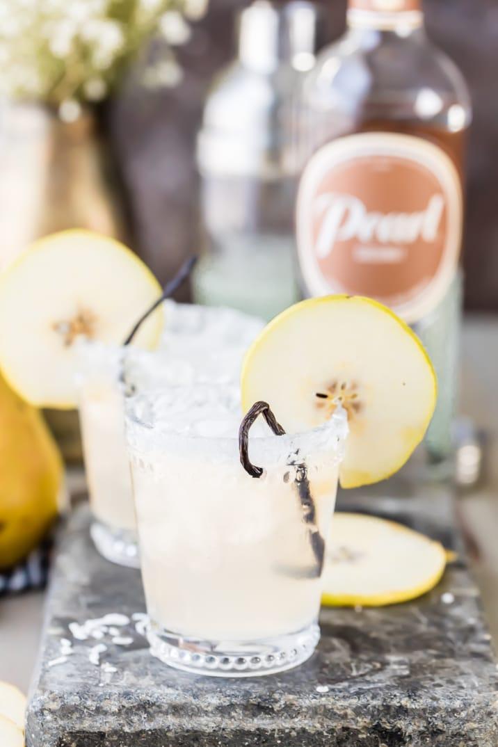 pear vanilla coconut cocktails