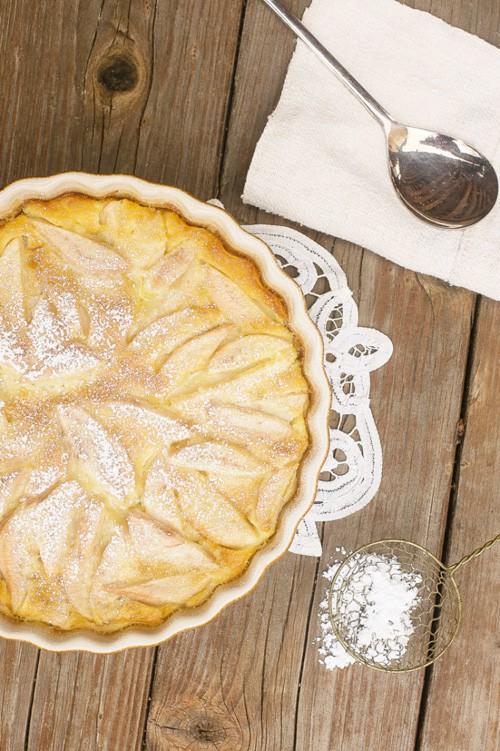 Pear Custard Pie | Dinner at the Zoo