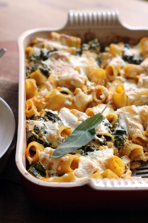 Pumpkin Baked Ziti with Sage | Eats Well with Others