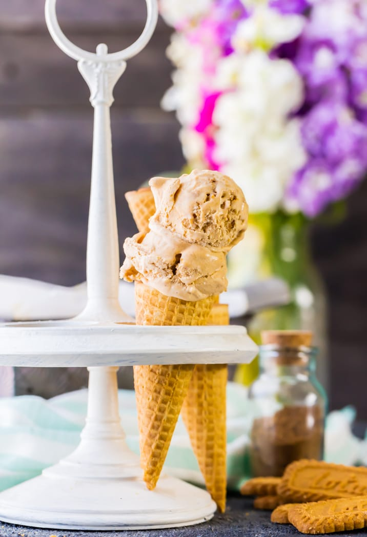 ice cream cones on a table setting
