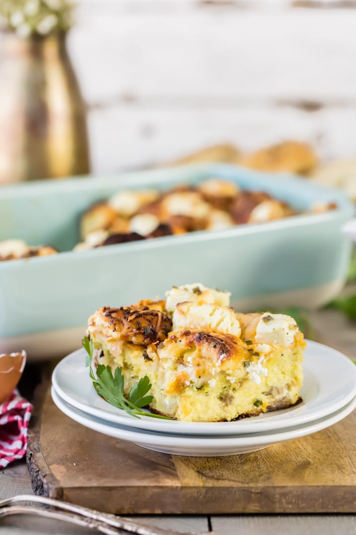 savory everything bagel french toast casserole with sausage (8 of 16)