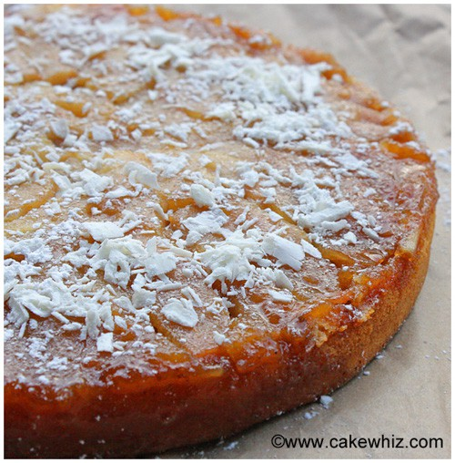 Upside Down Pear and Coconut Cake | Cake Whiz