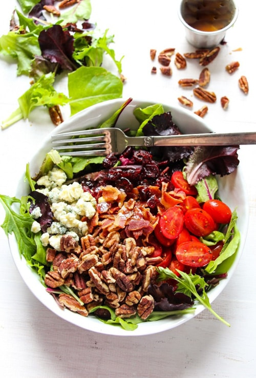 Apple Bacon Gorgonzola Salad | Layers of Happiness