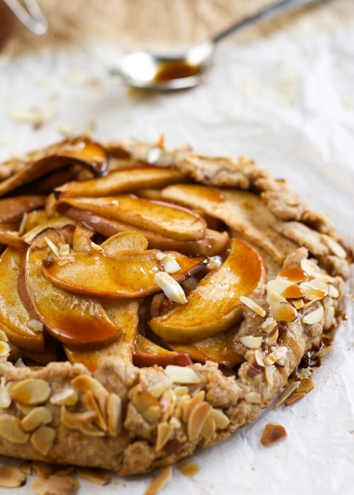 Apple Galette with Salted Caramel Drizzle | With Salt and Wit