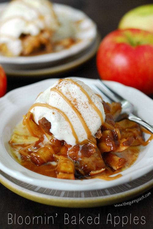 Bloomin' Baked Apples | The Gunny Sack