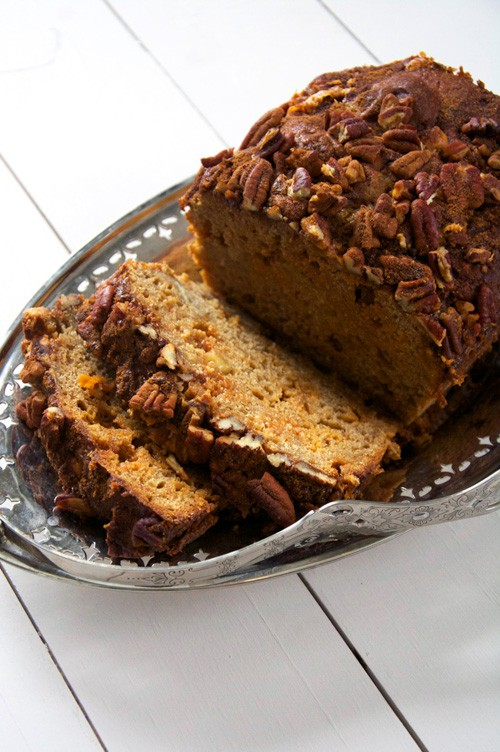 Brown Butter Apple Bread with Butterscotch and Cinnamon Pecan Streusel | With Salt and Wit