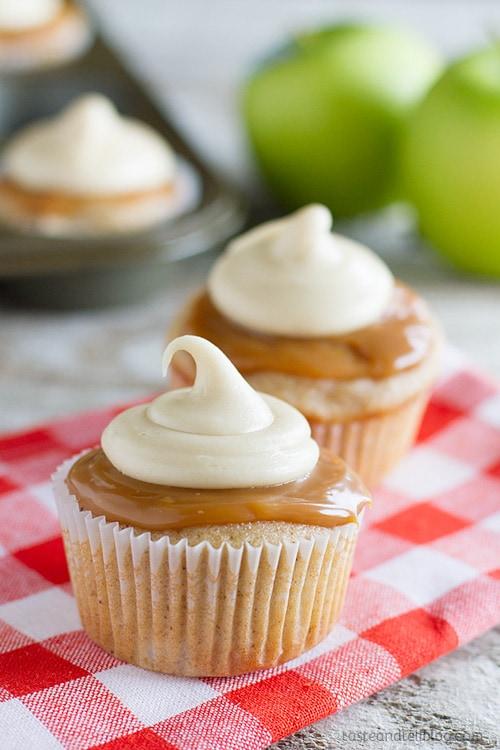 Caramel Apple Cupcakes | Taste and Tell