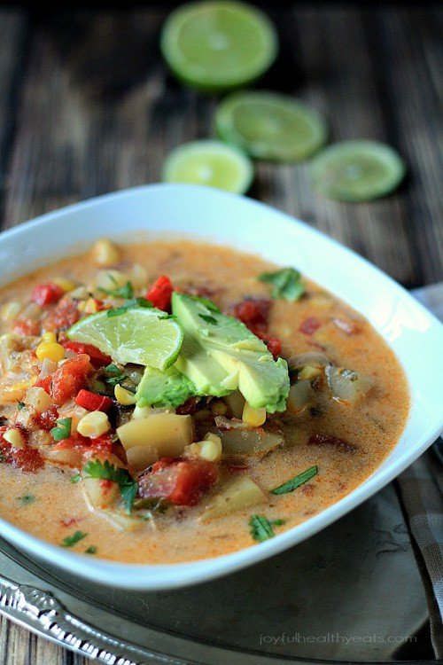Southwestern Corn & Potato Chowder | Joyful Healthy Eats