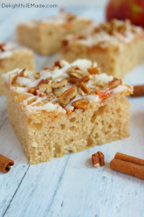 Frosted Apple Cinnamon Snack Cake | Delightful E Made