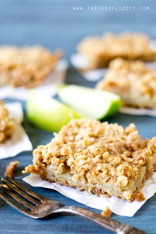 Apple Oatmeal Bars | Tastes of Lizzy