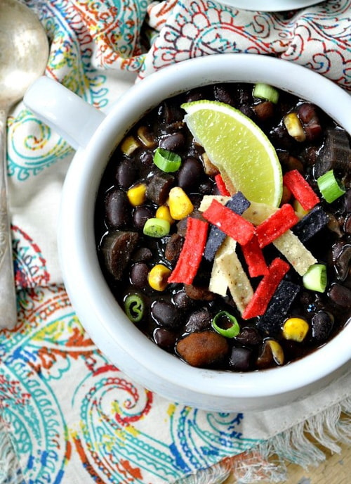 Southwestern Black Bean Soup | The Seasoned Mom