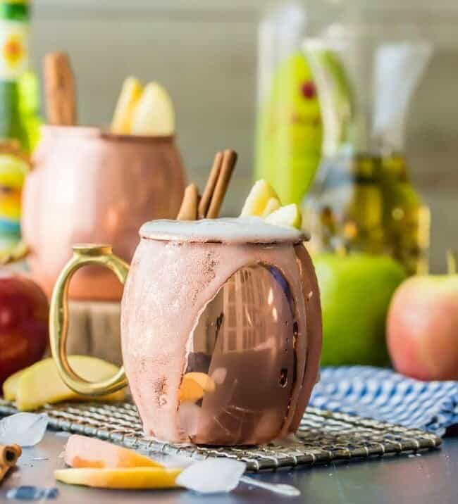 Apple Pie Moscow Mule pm a table