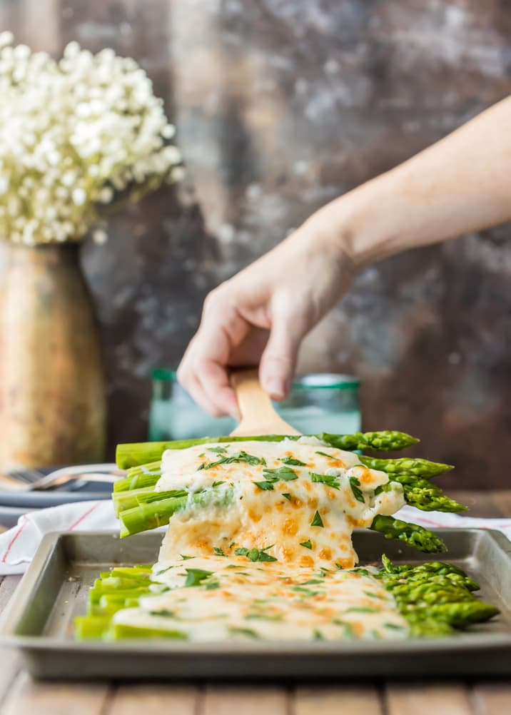 Cheesy asparagus side dish