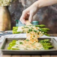Three Cheese Asparagus Gratin (Easy Asparagus Recipe!)