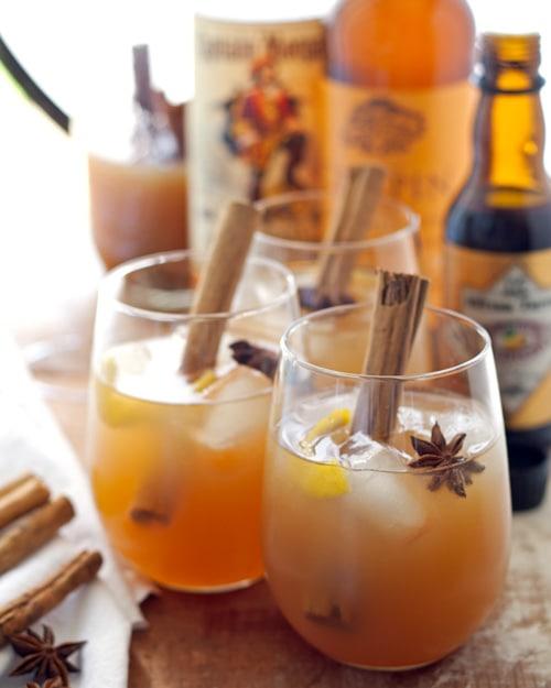 Autumn Spiced Rum Cider Cocktail | Honey & Birch
