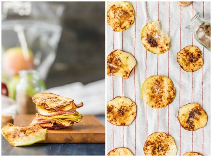 Cinnamon Sugar Microwave Apple Chips! The perfect sweet snack made in about 6 minutes! Healthy, delicious, and SUPER EASY!