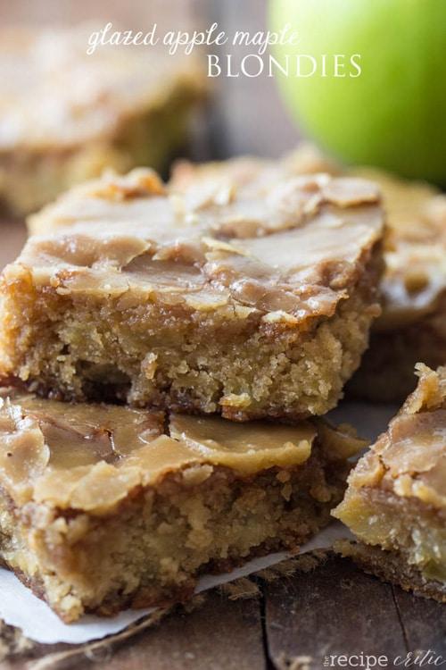 Glazed Apple Maple Blondies | The Recipe Critic