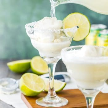 It doesn't get cuter than this Margarita Ice Cream Float! Margarita Ice Cream Floats are SUPER simple and fun for any party. We love these for a delicious after dinner treat!