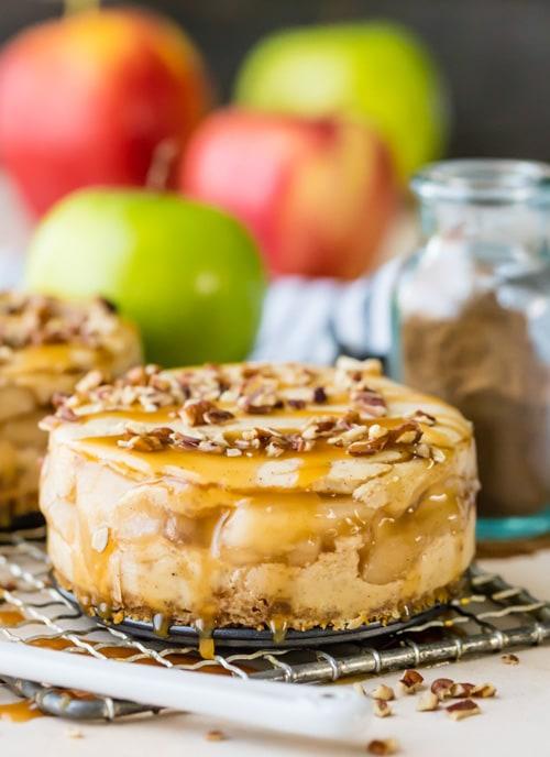 Mini Apple Pie Cheesecakes | The Cookie Rookie