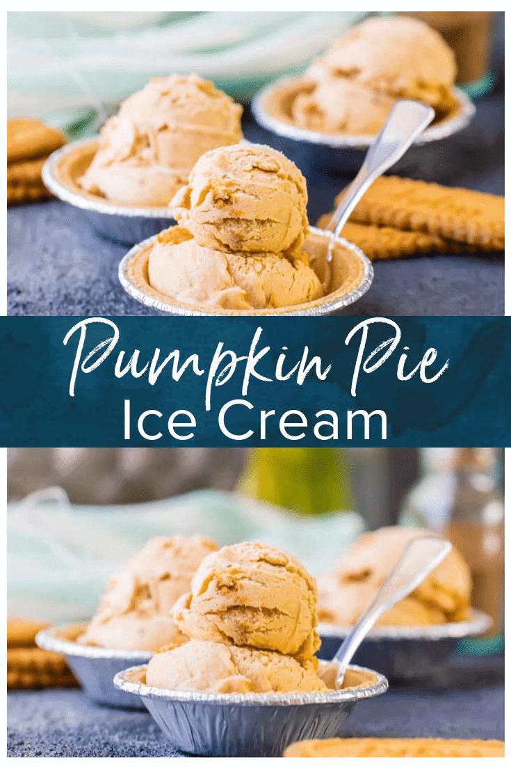 pumpkin pie ice cream pinterest photo