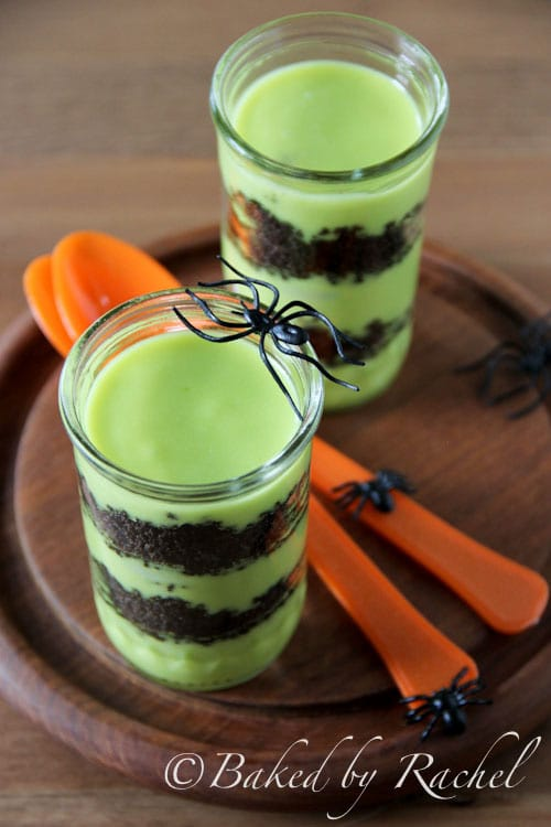 Halloween Goblin Goo Parfaits | Baked by Rachel