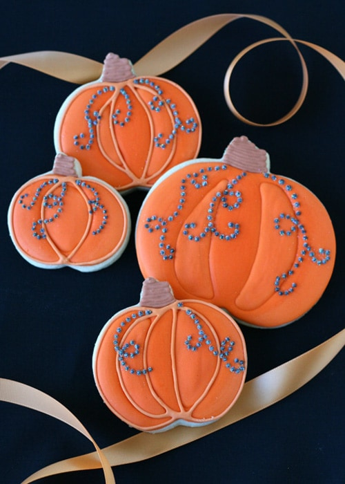 Jeweled Pumpkin Cookies | Glorious Treats