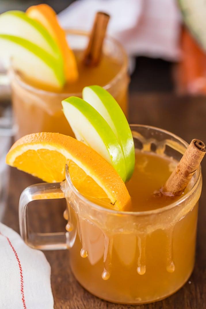 Caramel Apple Cider in two glasses