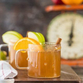 Skinny Slow Cooker Caramel Apple Cider
