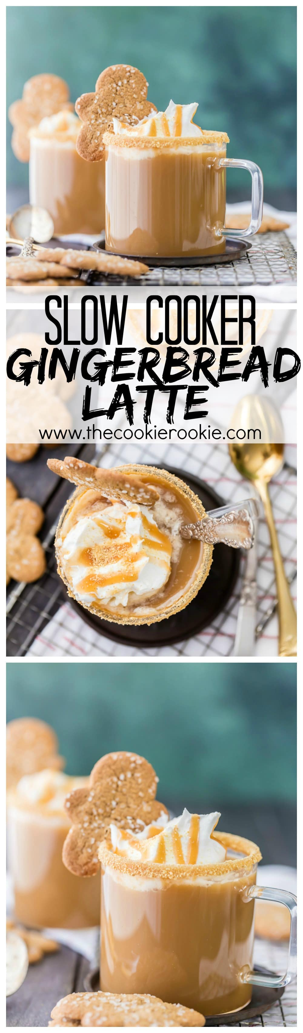 Slow Cooker Gingerbread Latte!! Easy is best...and these are best! It tastes and smells like Christmas in my house thanks to these Crockpot Gingerbread Lattes!!