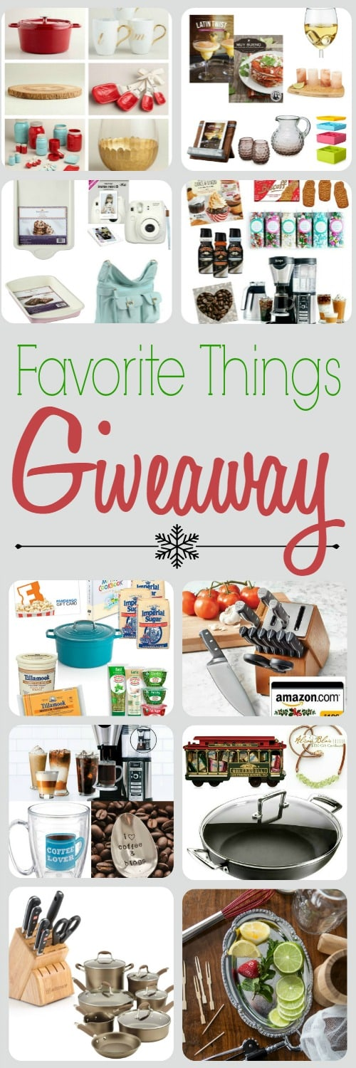 Favorite Things Giveaway 2015